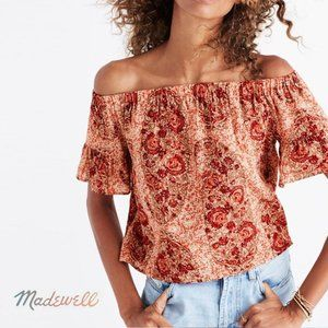 MADEWELL Watercolor Paisley Off the Shoulder Small